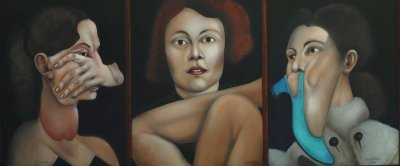 Femmes (Tríptico) - João Câmara - OLST - 055x129