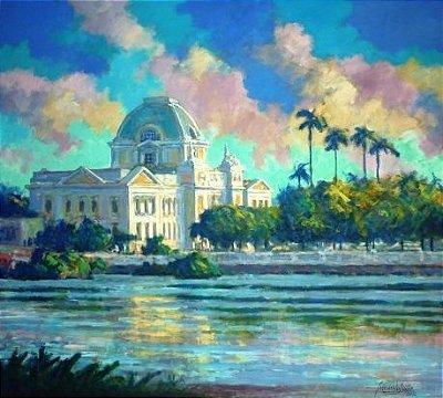 Palácio da Justiça e Capibaribe - Fernando Lúcio (PE) - Acrílica s/Tela - 090x100cm.