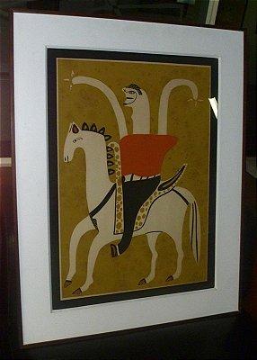 Cavaleiro - Miguel dos Santos (PE) - Serigrafia s/Papel - 065x047 - Ass.CID
