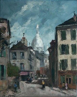 Montmartre-Rue Norvins - Jean Rigaud - Óleo s/Tela - 041x033 Ass.CIE
