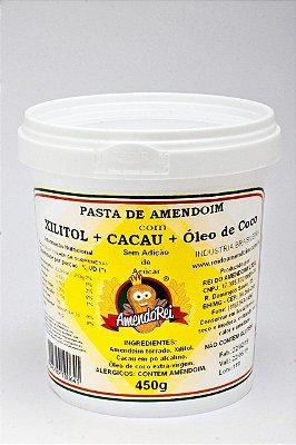 Pasta de Amendoim com Cacau + Xilitol + Óleo de Coco 450g
