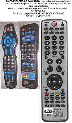 Controle Remoto Compatível Videokê RAF VMP3700 3700PLUS FBT0069