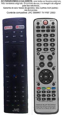 Controle Remoto Compatível JVC smart TV FBT2553