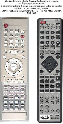 Controle Remoto Compatível  Gradiente ah59 01264A HTS760 FBT1589