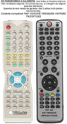 Controle Remoto Compatível RAF Videokê Vmp 8380 Vmd6628S PRO400 FBT382