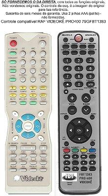 Controle Remoto Compatível RAF Videokê PRO 400 Vermelho FBT1383
