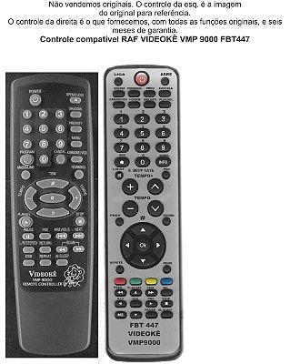 Controle Remoto Compatível RAF Videokê  Vmp 9000 FBT447