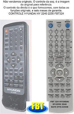 Controle Remoto Compatível Hyundai Hy2240 2250 FBT324