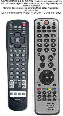 Controle Remoto Compatível Insignia Lcd Tv Todos Os Modelos FBT2306