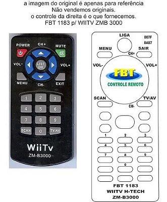 Controle Remoto Compatível WiiTV Zm-b3000 ISDB-T Dig TV Auto FBT1183