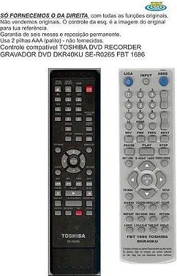 Controle Remoto Compatível DVD REC Toshiba DKR40 SE-R0265 10 FBT1686