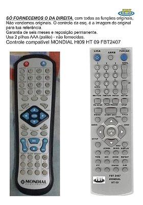 Controle Remoto Compatível - Mondial Ht09 Ht 09 FBT2407