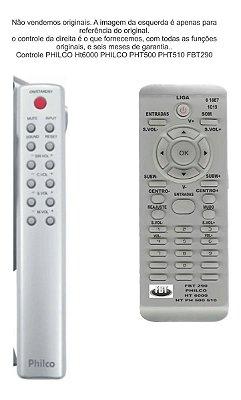 Controle Remoto Compatível - Philco Britania Ht6000 Pht500 Fbt290