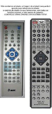 Controle Remoto Compatível - Dmax Dvdrec D1015 D1009 FBT87