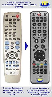 Controle Compatível LG Lh-d6530a D6235a & Gradiente HTS520 FBT722