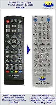 Controle Compatível Cromus TV Digital Chd2014 FBT2081