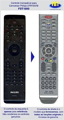 Controle Compatível Conversor Philips DTR1007B FBT1880