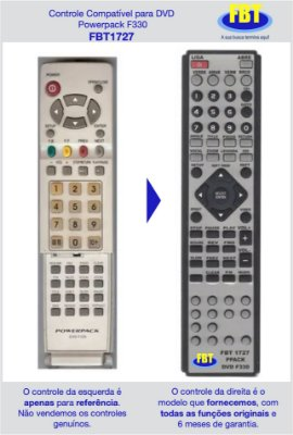 Controle Compatível para Powerpack DVD F330 FBT1727