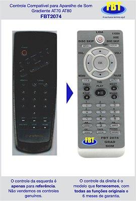 Controle Compatível para aparelho de som Gradiente AT70 AT80 FBT2074
