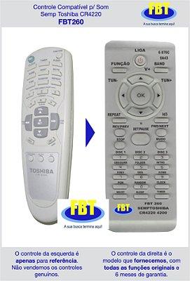 Controle Compatível p/ Som Semp Toshiba CR4220 FBT260