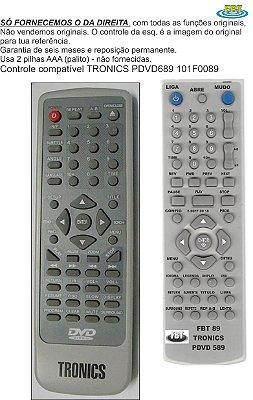 Controle Compatível Tronics Pdvd 689 Fbt 89