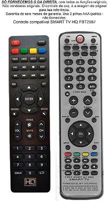 Controle compatível HQ SMART TV STV55 todas as funções originais FBT2587