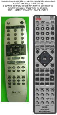 CONTROLE MTCC BDMH 661 HOME THEATER