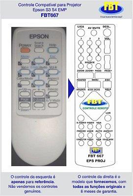 Controle Compatível para Projetor Epson S3 S4 EMP FBT667