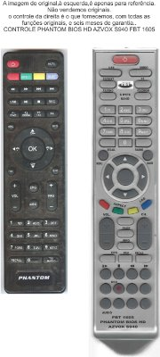 CONTROLE PHANTOM BIOS HD AZVOX S940 FBT 1605