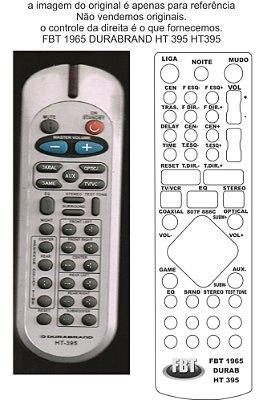 Controle Remoto Compatível - DURABRAND HT395 HomeTHEATER FBT1965