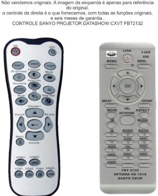 CONTROLE  OPTOMA HD 141X 142X