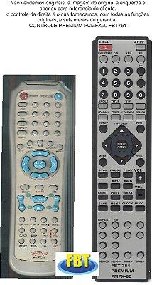 Controle Remoto Compatível - PREMIUM PCMFX90 FBT751