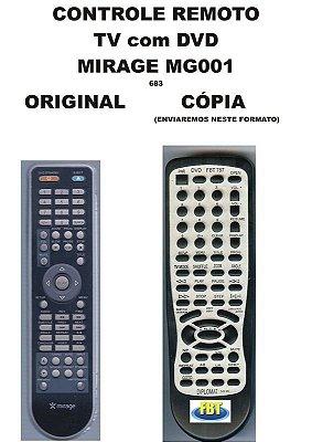 Controle Remoto Compatível - Tv Dvd Mirage