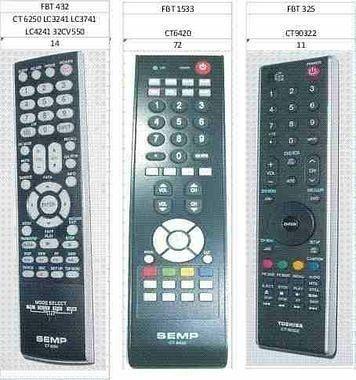 Controle Tv Lcd Semp Toshiba Ct-6350 Ct6360 Ct6390 6250 6240 6310