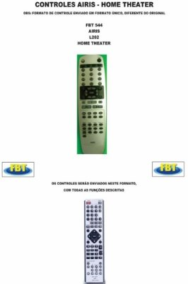 Controle Remoto Home Theater Airis Amvox Auvi Bright Britânia Philco C3tech Cce