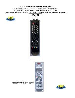 Controle Remoto Receptor Digital Satelite Netline Openbox Otimo Phantom Powernet PremiumBox ProSat Probox ProNet Qmax