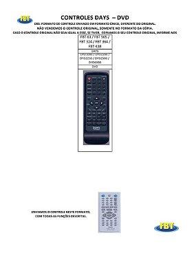 Controle Remoto Compatível - Dvd Daewoo Days Daytek Digistar DigitalBras Digix