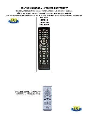 Controle Remoto Compatível - XSAGON L100/L200 para Projetor