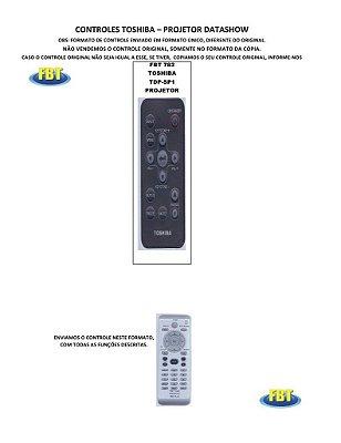 Controle Remoto Compatível - TOSHIBA TDP-SP1