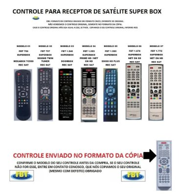 Controle Remoto Compatível - S para RECEPTOR DE SATÉLITE SUPERBOX
