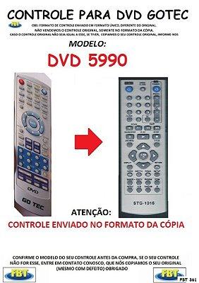 Controle Remoto Compatível - para DVD GOTEC MODELO - DVD 5990