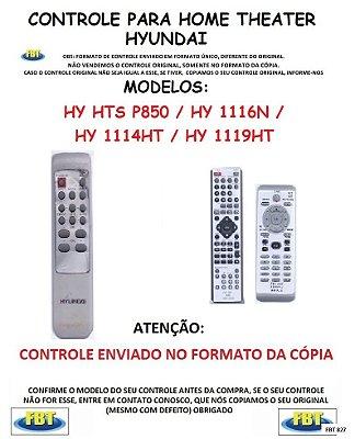 Controle Remoto Compatível - para Home THEATER HYUNDAI - HY HTS P850 / HY 1116N / HY1114HT / HY 1119 HT