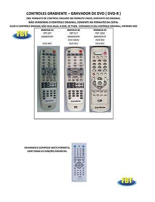 Controle Remoto Gravador De Dvd Dvd-R Astar Britania Cougar Cyberhome Digix D-Max Dvr Gotec Gradiente Hypson Lenoxx Sound Lg