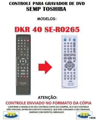 Controle Remoto Compatível - para GRAVADOR DE DVD SEMP DKR 40 SE-R0265