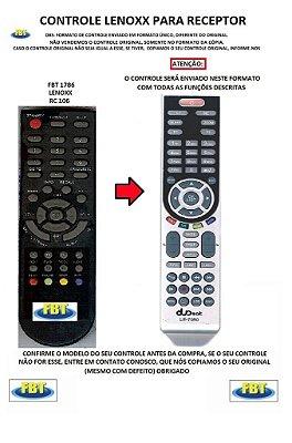 CONTROLE REMOTO PARA RECEPTOR DE TV LENOXX TOMATE RC 106