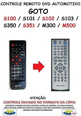 Controle Remoto Compatível - para DVD Digital Automotivo GOTO S100 / S101 / S102 / S103 / S350 / S351 /M300 / M500