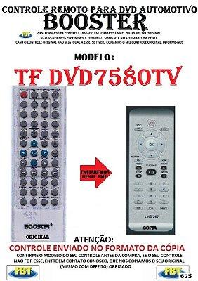 Controle Remoto Compatível - para DVD Digital Automotivo BOOSTER DVD 7580 TV