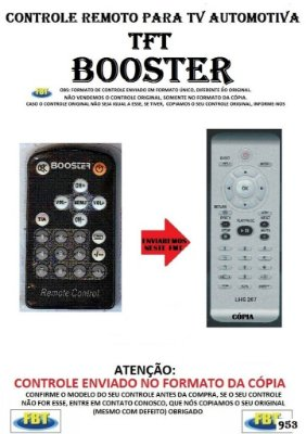 Controle Remoto Compatível - para TV Digital AUTOMOTIVA TFT BOOSTER