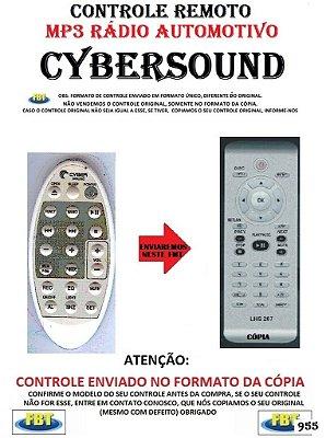 Controle Remoto Compatível para MP3 RADIO Automotivo CYBERSound