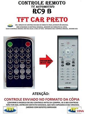 Controle Remoto Compatível - para TV Automotivo RC9 TFT CAR PRETO